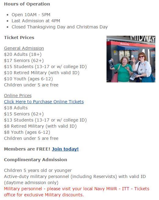 USS Midway San Diego Always Half Price Mike Puckett DDM